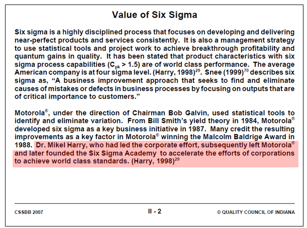 Case-study | The Sixth Sigma